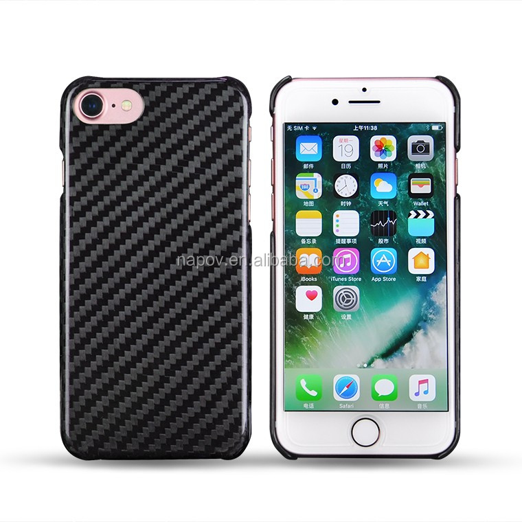 For iPhone 7 Real Carbon Fiber Case, 100% Real Carbon Fiber Cover for iPhone 7 Mobile Phone Cases