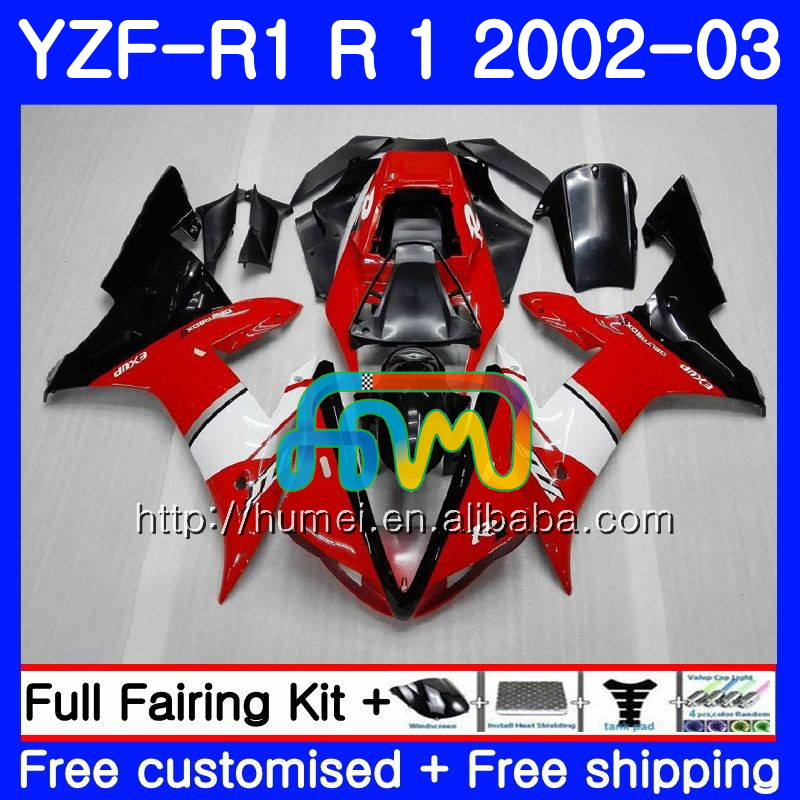 Body For YAMAHA YZF 1000 red black YZFR1 <strong>02</strong> <strong>03</strong> YZF-1000 Bodywork 99HM5 YZF R 1 YZF <strong>R1</strong> <strong>02</strong> <strong>03</strong> YZF1000 YZF-<strong>R1</strong> 2002 2003 <strong>Fairing</strong>
