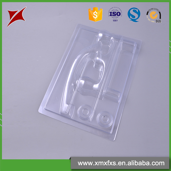 Chinese style palstic PET tray disposable blister card packaging
