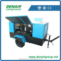 12V Portable Diesel mobile screw air compressor used in roads