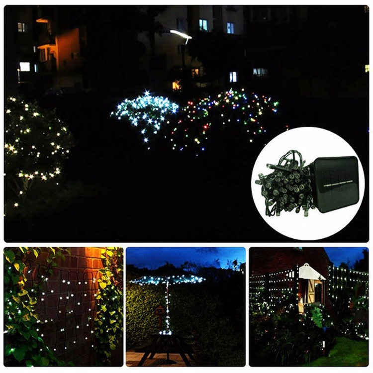 Christmas Solar LED Decorative Fireworks Light 12M Waterproof Solar Home Light
