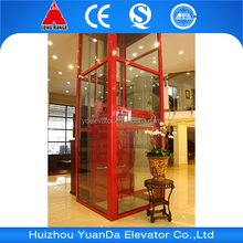 Sightseeing glass home small residential elevator for villa house
