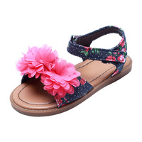 Flower Design Girls Sandals for Children Cheap Price
