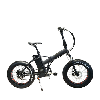 2018 Smart 20*4.0 fat tire with 48V 12.5ah lithium battery foldable ebike