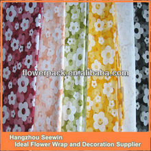 beautifull printed organza sheet for flower wrap