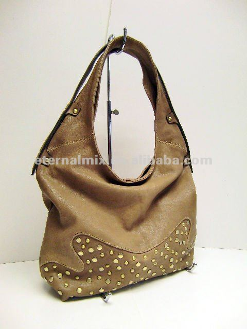 Lamb Leather Bag with Studs