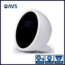 Mini Rechargeable Hidden P2P Wifi Alarm Clock Camera with SDK Record