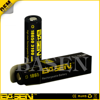 NEW model Basen 18650 3100mAh 30A battery with flat top