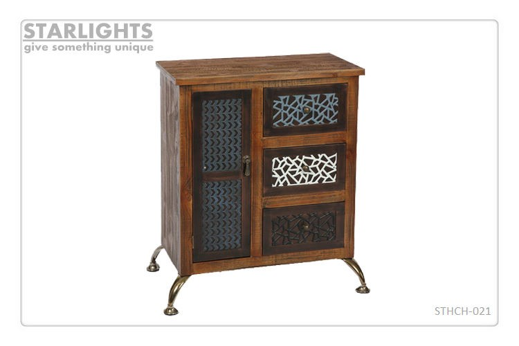 Most popular wood furniture with many drawers distressed wood cabinet for sale