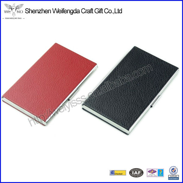 Fashion High Quality Leather And Metal Card Holder