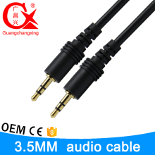 3.5mm black color stereo plug high quality male to male cable rca fot tv