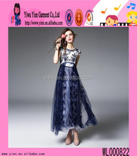 2016 mainland manufacture top quality evening dress boutique shop hot sale flower girls hand embroidered dresses