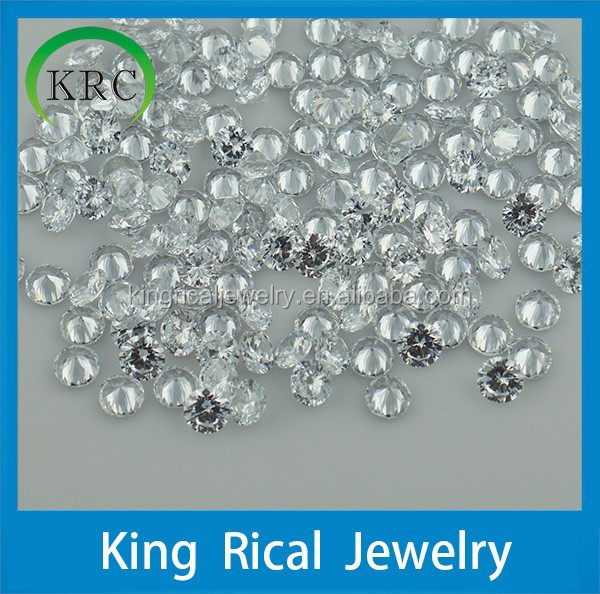 1mm new product loose cz stones synthetic white cubic zirconia