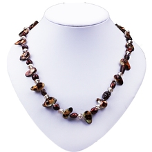 SCI050 AAbaroque shape nature latest chunky pearl necklace