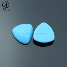 Synthetic blue turquoise stones for jewelry making