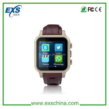 Android 4.4 3g smart watch phone, GPS WIFI 3G Cell phone watch, whatsapp skype smart watch