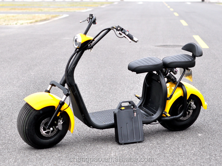 2017 new model battery removable citycoco electric scooter big wheel harley electric scooter
