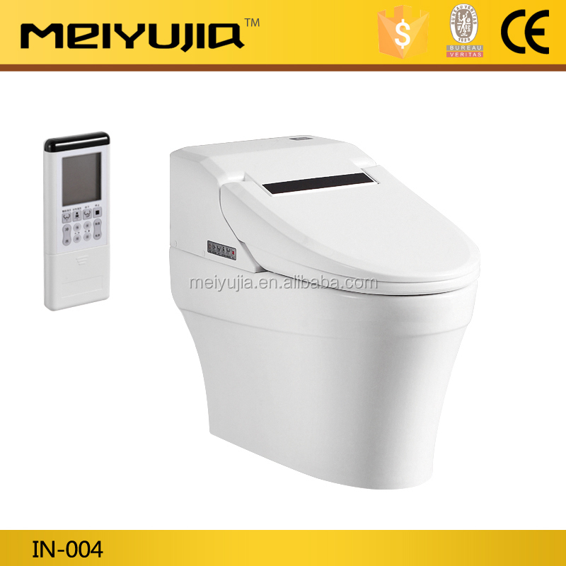 IN-004 Hot sale white color intelligent toilet smart wc toilet