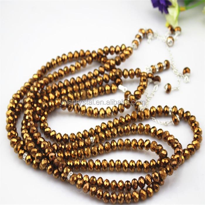 99 beads 8mm islamic prayer bead rosaryglass tasbeeh