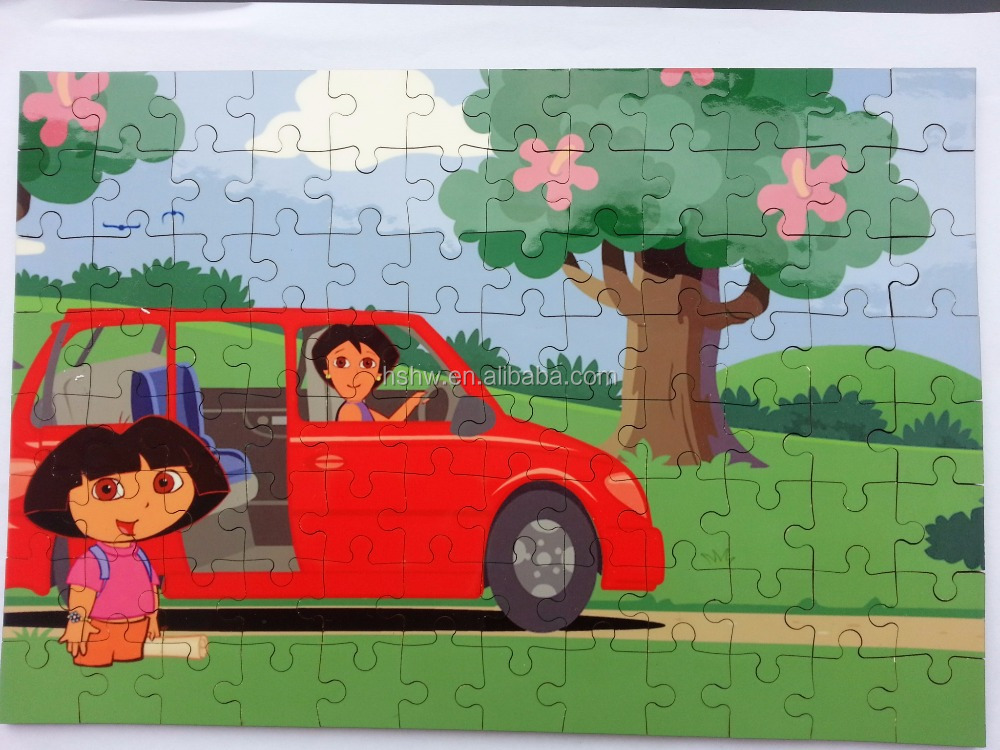 17x25cm A4 blank sublimation wooden puzzles 30pcs , printable heat press wood jigsaw