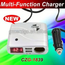 sample available PC ABS plastic material shell 1 USB port for ebook,ereader universal dual 2 port usb car charger
