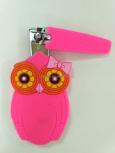 magenta promotion gift baby nail clipper set,silicone cartoon nail clipper