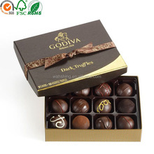 Luxury fashion design chocolate packaging with tray for birthday gift