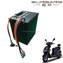 Deep cycle 17S7P-18650 60v 20ah li-ion battery pack with iron case for electric bike/ motocycle