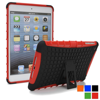 Heavy duty Rubberized hard case defender for ipad mini