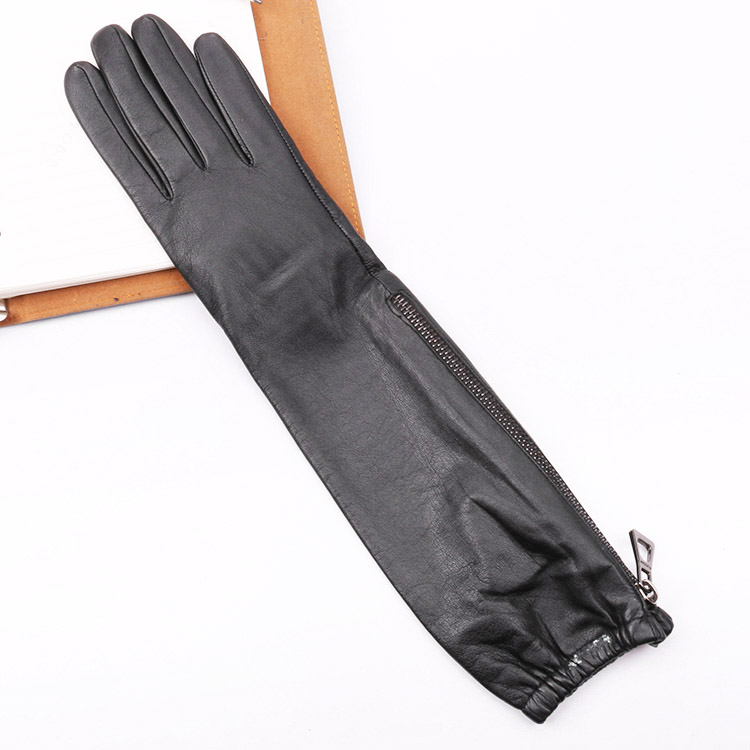 dress unlined arm length long leather opera gloves