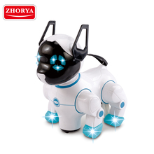 zhorya plastic battery operated walking dancing cute robot toy dog