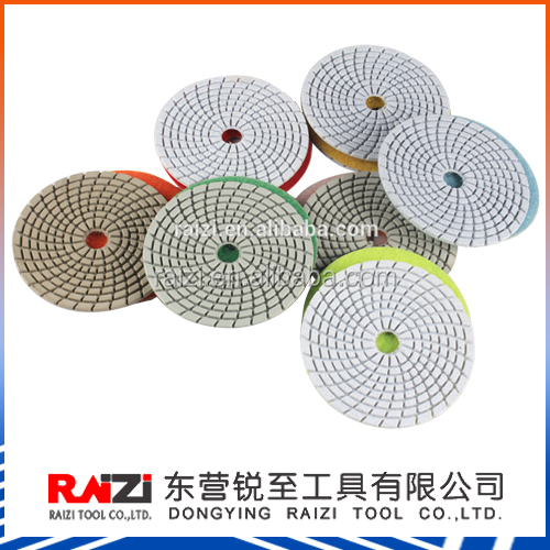 Wet and Dry Flexible Resin Diamond Floor Polishing Pads For Marble