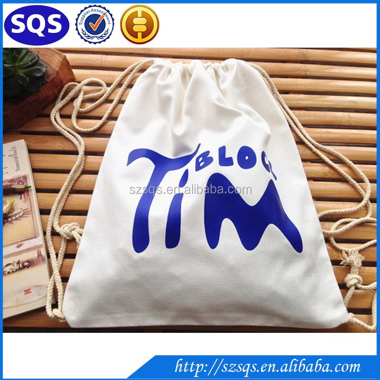 Fashion Organic Cotton Fabric Printing small drawstring bags