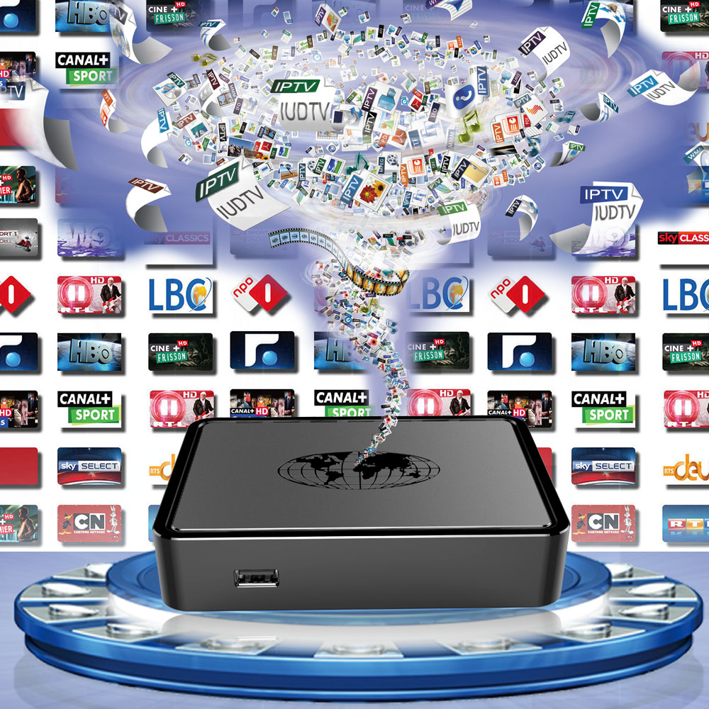 Streaming Media Player Linux TV Box Mag 254 with Europe IUDTV 1 Year Sky Italy UK Germany Arabic 1600 HD Channels