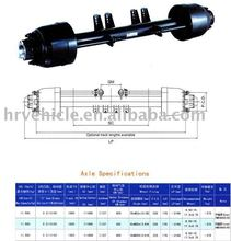 BPW /Fuwa type trailer axle for lowbed semi-trailer