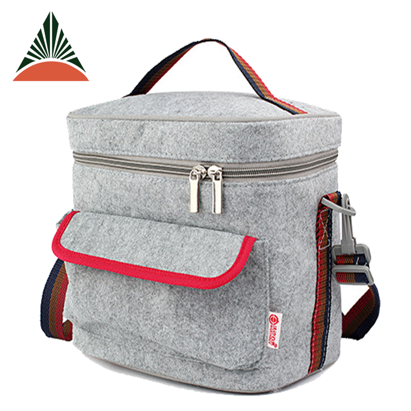 Felt Aluminium Foil Lining Insulated Thermal Lined Cooler Lunch Bag