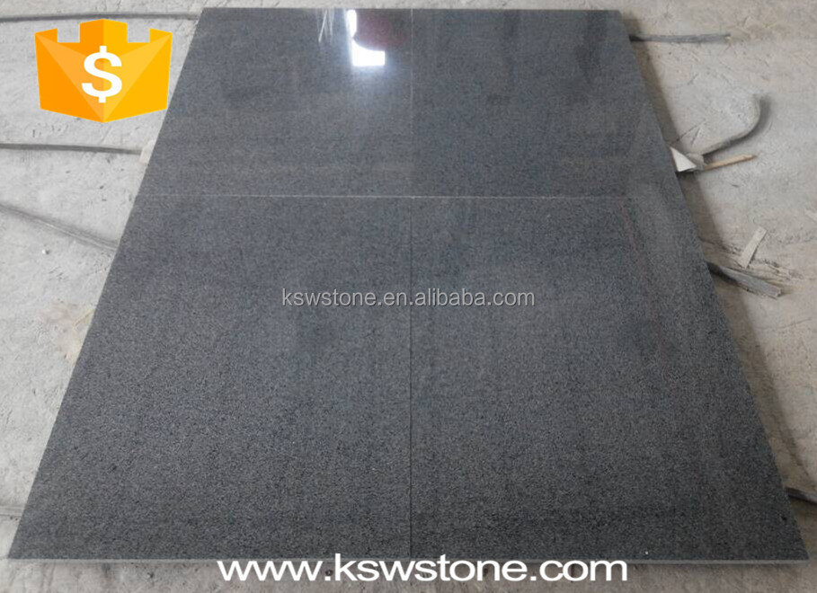 G654 sesame black China impala pandang dark grey granite tile price
