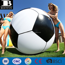 6 feet tall heavy duty thick PVC giant inflatable soccerball balloon beach ball toys for kids and adults