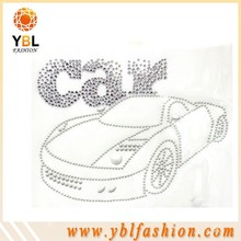 car design rhinestone Pattern and letters transfer for Garment