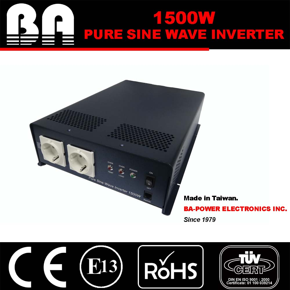 1500W Pure Sine Wave Power Inverter 12V DC/230V AC