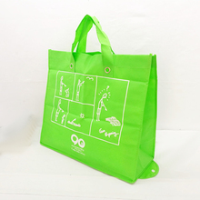 Custom made convenient carrier promotional folding non woven shopping bag