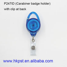 Plastic carabiner badge holder