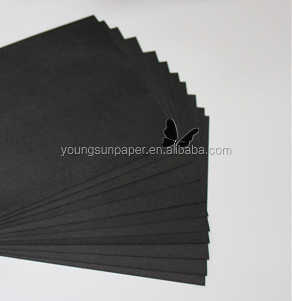 roll paper black kraft different gsm solid black paper liner