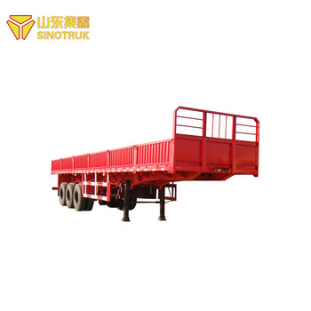 China howo sino supplier new fence 12500 x 2500 x 3100mm semi trailer price