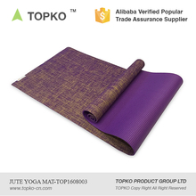China Suppliers New Products Custom Colors Organic Jute Yoga Mat