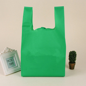 New Arrival Fast Delivery Non Woven Fabric T Shirt Shopping Bag Wholesale China