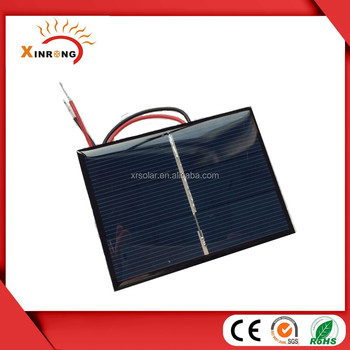 80x60 MM 1.5V 400mA Epoxy Mini Solar Panel with wire