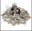 EPNS and Metal Handicrafts GERMAN SILVER FANCY DIYA STAND FOR DIWALI POOJA