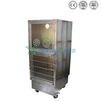 China Guangzhou supply veterinary equipment stainless steel pet cage for oxygen therapy dogs