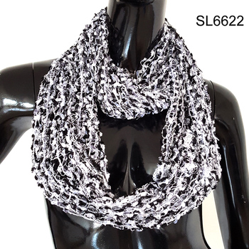 2016 Fashion hot mesh confetti style shining infinity scarf